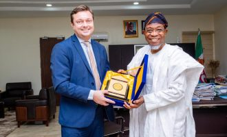 Images Of Visit Of Delegation Of Representatives Of EU Counties In Nigeria To Aregbesola