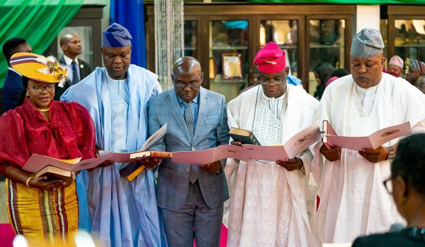 New Appointees Take Oath Of Office In Lagos, Gov Urges To Add Value To Governance