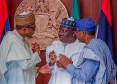 In Pictures, Buhari, Lawan, Gbajabiamila At Swearing-in Of National Assembly Commission Members