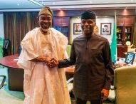 In Pictures, Aregbesola Felicitates With Oshinbajo @63